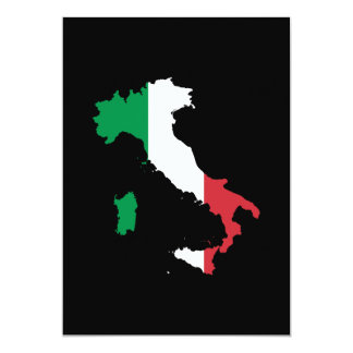Italy in Flag Colors Card
