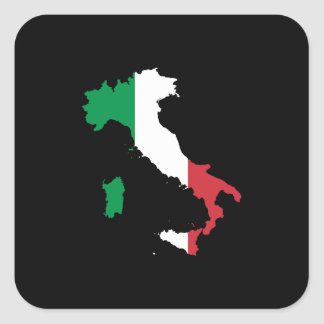 Italy in Italian Colors Square Sticker