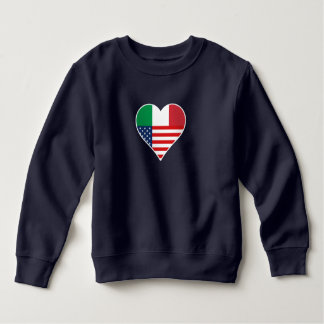 Italy, Italia - America, the USA. Heart, Country Sweatshirt
