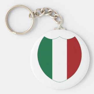 Italy / Italia Basic Round Button Key Ring