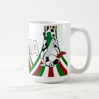 Italy italia, calico football soccer coffee mug