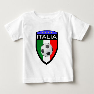 Italy / Italia Flag Patch - with soccer ball Baby T-Shirt