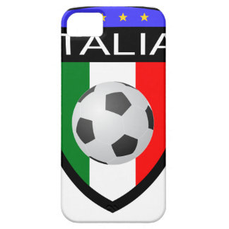 Italy Italia Flag Patch - with soccer ball iPhone 5 Case