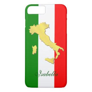 Italy Italia Italian Flag Gold Country Name iPhone 8 Plus/7 Plus Case