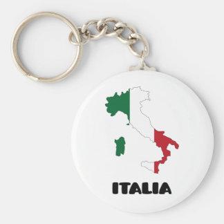 Italy / Italia Basic Round Button Key Ring