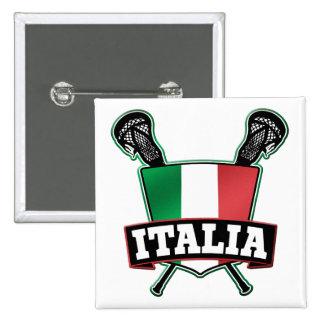 Italy Italia Lacrosse Button