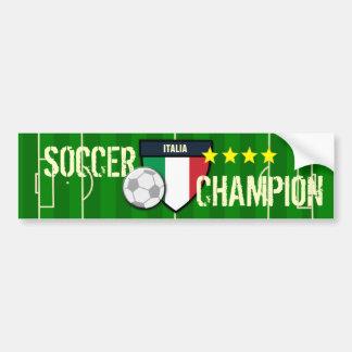 Italy Italia Soccer Champion Bumper Sticker