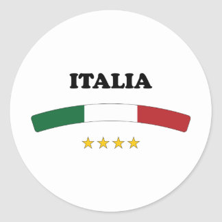 Italy / Italia Round Sticker