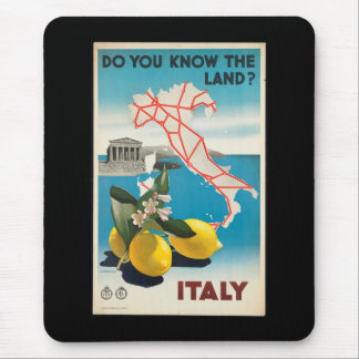 Italy - Italia vintage travel Poster Mouse Pad