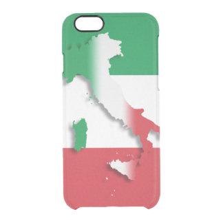 Italy Italian Flag Clear iPhone 6/6S Case