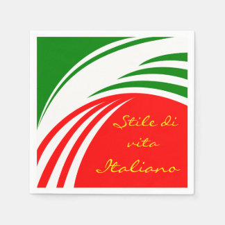 Italy Italian Flag Design with your Text Disposable Napkin