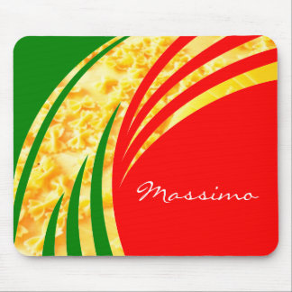 Italy Italian Flag Pasta and your Initials Mouse Pad