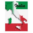 Italy Italian Flag Postcard