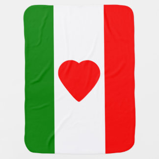 Italy Italian Italia Flag Tricolore Design Baby Blanket