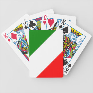 Italy Italian Italia Flag Tricolore Design Bicycle Playing Cards