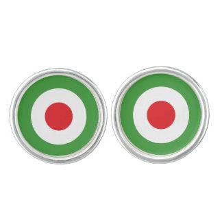 Italy Italian Italia Flag Tricolore Design Cufflinks