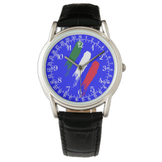 Italy Italian Italia Flag Tricolore Design Watch