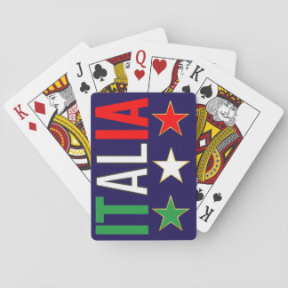 Italy Italian Italia Flag Tricolore Stars Design Playing Cards
