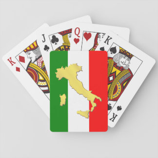 Italy Italian Italia Tricolore Gold Country Playing Cards