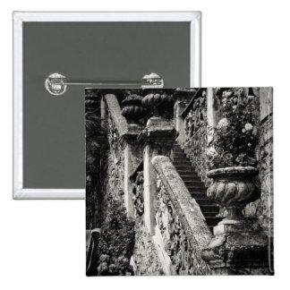 Italy, Lecco Province, Varenna. Villa Monastero, 3 15 Cm Square Badge