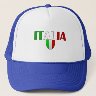 Italy logo flag of Italy shield for Italians Trucker Hat
