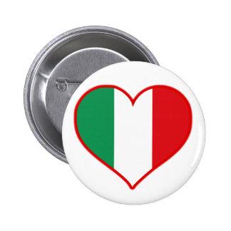 Italy Love 6 Cm Round Badge