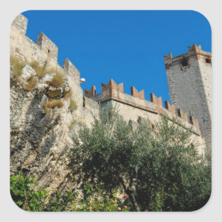 Italy, Malcesine, Lake Garda, Castle Scaligero Square Sticker