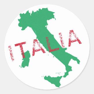 Italy map art with Italia Round Sticker