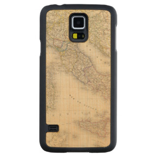 Italy Map Carved® Maple Galaxy S5 Slim Case