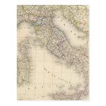 Italy Map Postcard
