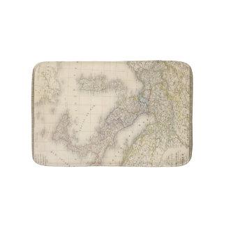 Italy Map Bath Mats