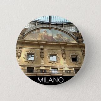 ITALY MILAN 6 CM ROUND BADGE