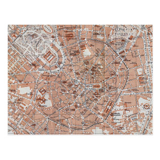 Italy - Milan City Map Postcard