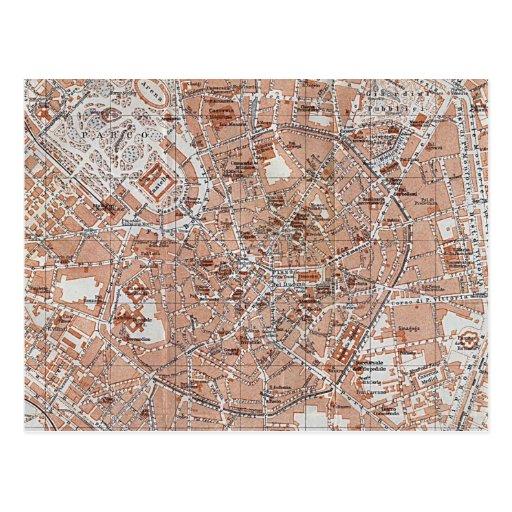 Italy - Milan City Map Postcards