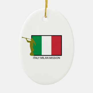 ITALY MILAN MISSION LDS CTR CERAMIC ORNAMENT