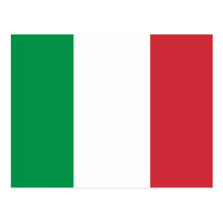 Italy National World Flag Postcard