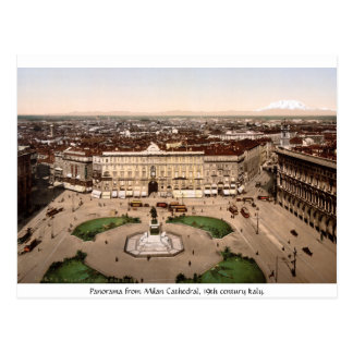 Italy - Panorama from Milan Cathedral Postcard