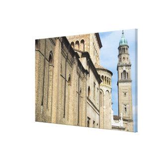 Italy, Parma, Tower of San Giovanni Church Canvas Print