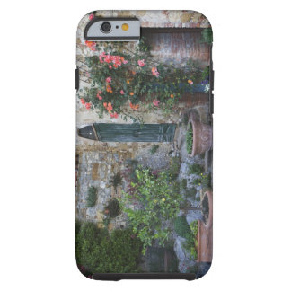 Italy, Petroio. Potted plants decorate a patio Tough iPhone 6 Case