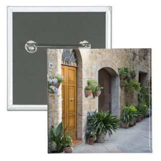 Italy Pienza Flower pots and potted plants Pin