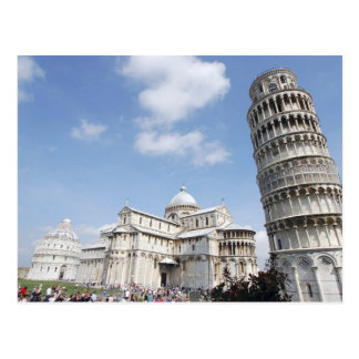 Italy, Pisa. Cathedral, baptistry and Leaning Postcard