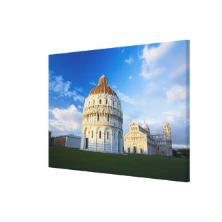 Italy, Pisa, Duomo, Leaning Towerand Field of Gallery Wrap Canvas