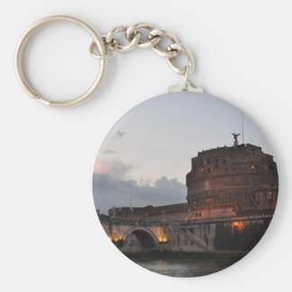 Italy Rome Castello S. Angelo Photo Basic Round Button Key Ring