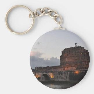 Italy Rome Castello S. Angelo Photo Basic Round Button Key Ring