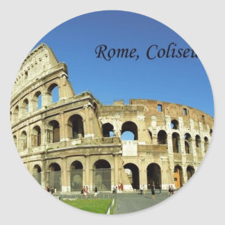 Italy Rome Coliseum (new) (St.K) Round Sticker