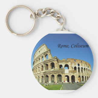 Italy, Rome, Roman Coliseum (St.K.) Basic Round Button Key Ring