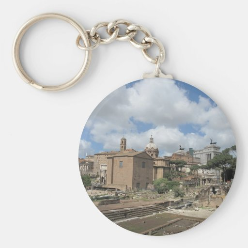 Italy, Rome - Roman Forum photo Keychains