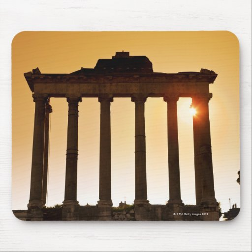 Italy, Rome, Roman Forum, Temple of Saturn Mouse Pad