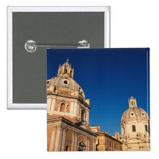 Italy, Rome, Santa Maria di Loreto church and Pinback Button