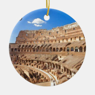Italy-rome-the-ancient-collosseo -Angie.JPG Round Ceramic Decoration